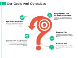 Our Goals And Objectives Ppt Styles Ideas