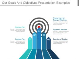 Our Goals And Objectives Presentation Examples