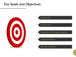 Our Goals And Objectives Success Ppt Powerpoint Presentation Styles Graphics Template