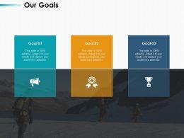 Our Goals Arrow Ppt Infographics Design Inspiration