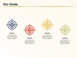 Our Goals Audiences Attention Restructing Ppt Powerpoint Graphics