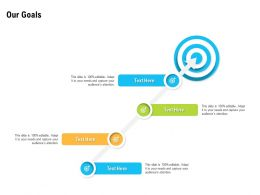 Our Goals Audiences Attention Techmology Ppt Powerpoint Presentation Outline