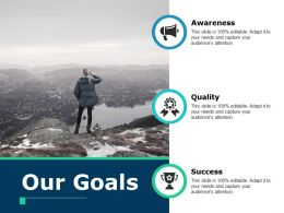 Our Goals Quality Ppt Powerpoint Presentation File Visuals