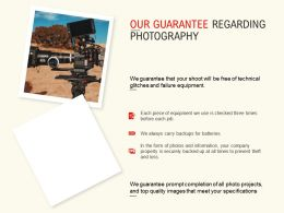 Our Guarantee Regarding Photography Ppt Powerpoint Presentation