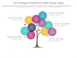 Our Heritage Powerpoint Slide Design Ideas