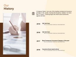 Our History Business Ppt Powerpoint Presentation File Gallery