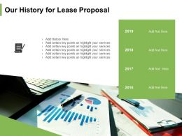 Our History For Lease Proposal Ppt Powerpoint Presentation Infographic