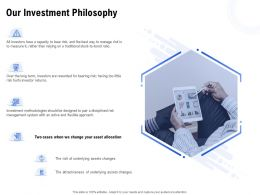 Our Investment Philosophy Ppt Powerpoint Presentation Styles Good