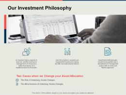 Our Investment Philosophy Technology Business Ppt Powerpoint Presentation Model Format