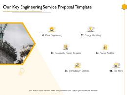 Our Key Engineering Service Proposal Template Ppt Powerpoint Presentation Template