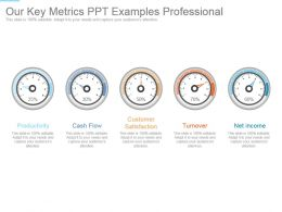 Our Key Metrics Ppt Examples Professional