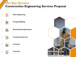 Our Key Services Construction Engineering Services Proposal Ppt Powerpoint Presentation Ideas Summary