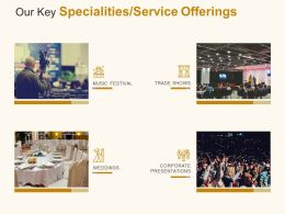 Our Key Specialities Service Offerings Ppt Powerpoint Presentation File Portrait