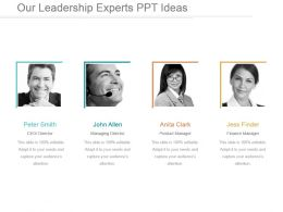 Our Leadership Experts Ppt Ideas