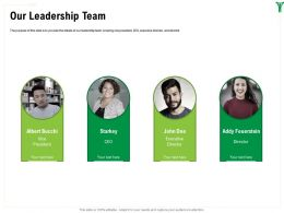 Our Leadership Team Addy Feuerstein Ppt Powerpoint Presentation Outline Design Ideas