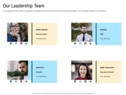 Our Leadership Team M3112 Ppt Powerpoint Presentation Infographic Template Sample
