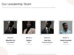 Our Leadership Team N428 Powerpoint Presentation Template