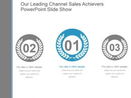Our Leading Channel Sales Achievers Powerpoint Slide Show
