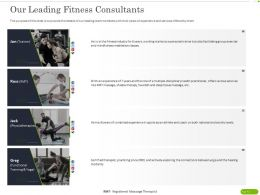Our Leading Fitness Consultants Ppt Powerpoint Presentation Portfolio Outfit