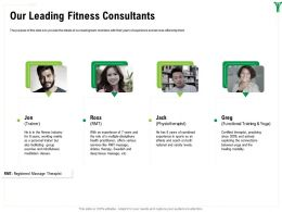 Our Leading Fitness Consultants Ross Ppt Powerpoint Presentation Icon Deck