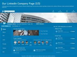Our Linkedin Company Page Group Business Marketing Using Linkedin Ppt Microsoft