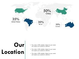 Our Location Geography Information C726 Ppt Powerpoint Presentation Background Images