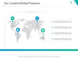 Our Location Global Presence Business Outline Ppt Mockup