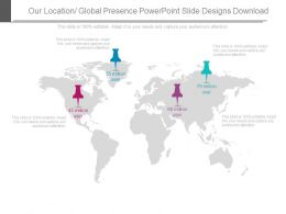 Our Location Global Presence Powerpoint Slide Designs Download