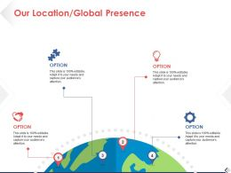 Our Location Global Presence Ppt Pictures Design Ideas