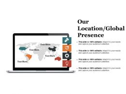 Our Location Global Presence Presentation Layouts