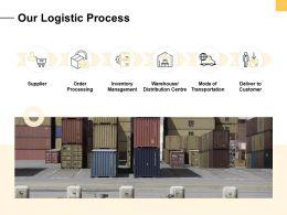 Our Logistic Process Ppt Powerpoint Presentation Portfolio Styles
