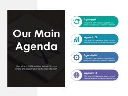 Our Main Agenda Ppt Summary Design Inspiration