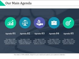 Our Main Agenda Target Financial Ppt Powerpoint Presentation Slides Layout Ideas