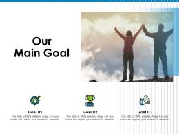 Our Main Goal A83 Ppt Powerpoint Presentation Icon Guidelines