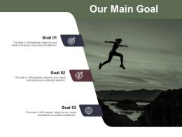 Our Main Goal And Targets Ppt Powerpoint Presentation File Diagrams
