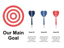Our Main Goal Arrow Competition A339 Ppt Powerpoint Presentation Model Smartart