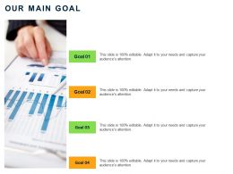 Our Main Goal M44 Ppt Powerpoint Presentation Inspiration Deck