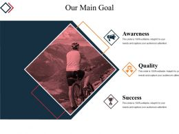 Our Main Goal Powerpoint Layout