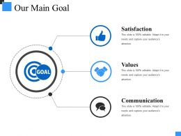 Our Main Goal Powerpoint Slide Background