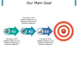Our Main Goal Powerpoint Slide Designs