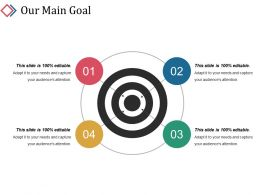 Our Main Goal Powerpoint Slide Images Template 1