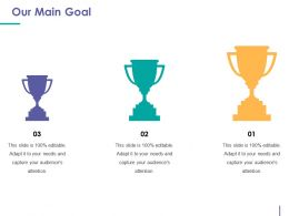 Our Main Goal Powerpoint Slides Design