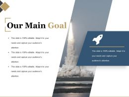 Our Main Goal Powerpoint Templates Microsoft