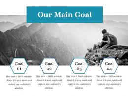 Our Main Goal Ppt Gallery Designs