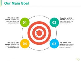 Our Main Goal Ppt Infographics Shapes