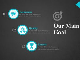 Our Main Goal Ppt Show