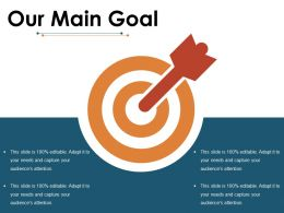 Our Main Goal Ppt Visual Aids Show