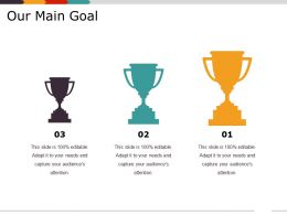Our Main Goal Sample Of Ppt