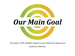 Our Main Goal Sample Of Ppt Presentation
