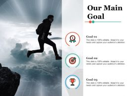 Our Main Goal Strategy Ppt Infographic Template Demonstration